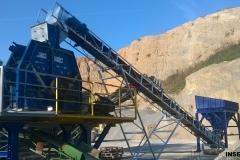 Premeljava, transport peska na transportnem traku iz zalogovnika na drobilec