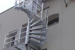 Konzolne okrogle stopnice, zavite stopnice